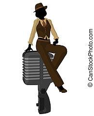 Female Jazz Musician Illustration