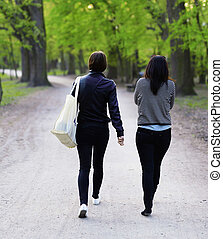 Female jogger in   park