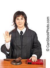 Female judge taking oath