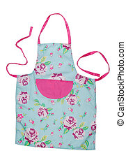 Female kitchen apron with floral pattern