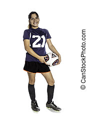 Female Latina Soccer Player