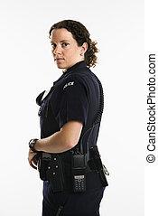 Female law enforcement. - Portrait of mid adult Caucasian...