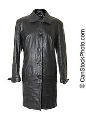 Female leather coat | Isolated