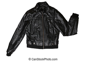 Female leather jacket