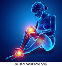Female Leg joint pain
