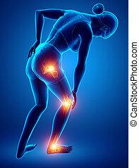 Female Leg joint pain