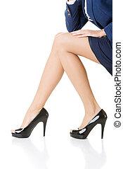 Female legs, Closeup.