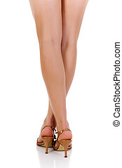 Female Legs high heels - Female legs with high heels. Studio...