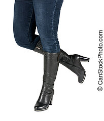 female legs in boots