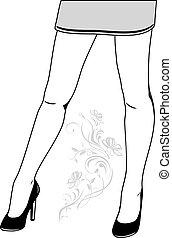 Female legs in elegant shoes