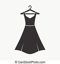 Female long dress on a hanger