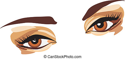 Female look. Vector illustration