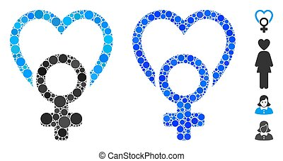 Female Love Composition Icon of Circles