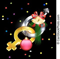 female-male and Christmas