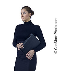 female manager with folder