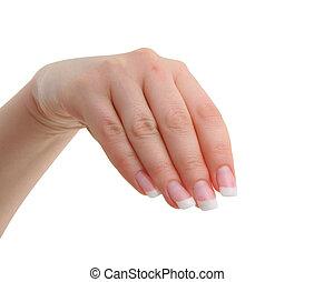 female manicured hand