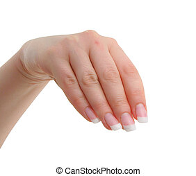 female manicured hand