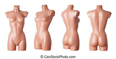 Female mannequin body | isolated - Different views on female...