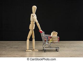 Female mannequin shopping