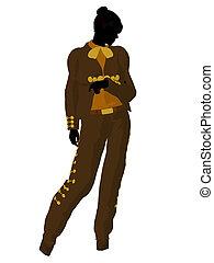 Female Mariachi Silhouette Illustration - Female mariachi...
