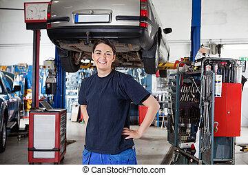 Female Mechanic Portrait