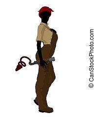 Female Mechanic Silhouette - Female mechanic illustration...