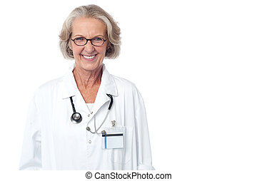 Female medical professional with stethoscope