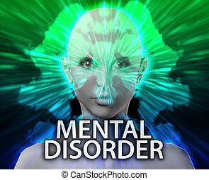 Female mental disorder inkblot - Psychiatric treatment...