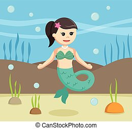 female mermaid vector illustration