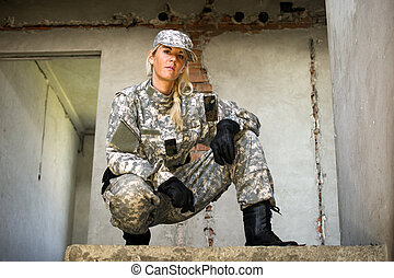 female military person