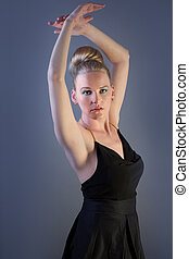 Female Model Doing A Ballet Pose