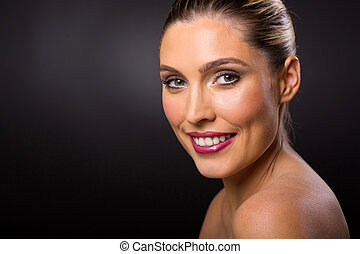 female model with clear skin