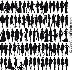 Female models - Lots of female models isolated on white