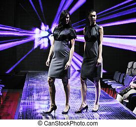 female models on fashion show - handsome woman female model...