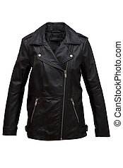 jacket - Female motorcycle jacket on a white background