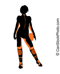 Female Motorcycle Rider Art Illustration Silhouette