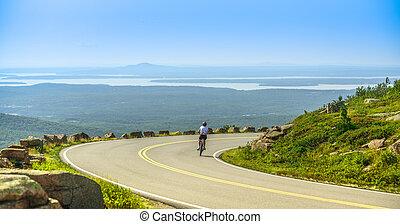 Female mountain bike cyclist