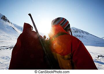 Female Mountaineer - A portrait of a female adventurer...