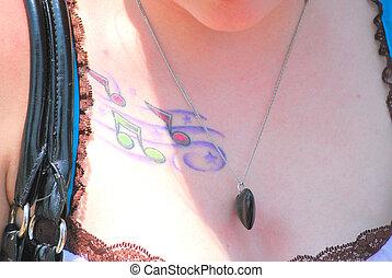 Female musician.