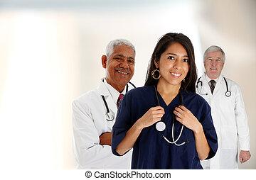 Female Nurse And Doctors