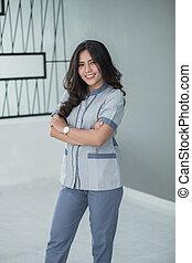 Female nurse in shoot