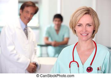 Female nurse.