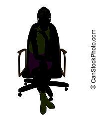 Female Office Illustration Silhouette