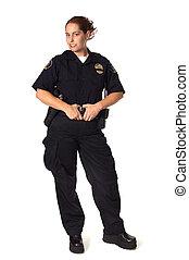Female Officer - Female Law Enforcement Officer in Uniform