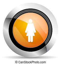 female orange icon female gender sign