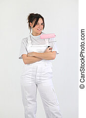 Female painter-decorator