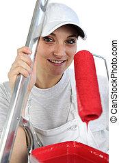 female painter decorator