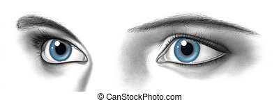 female pair of eyes - a picture painted by my own showing a ...