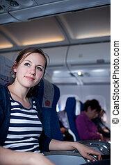 female passenger on board