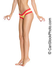 Female perfectly shaped body